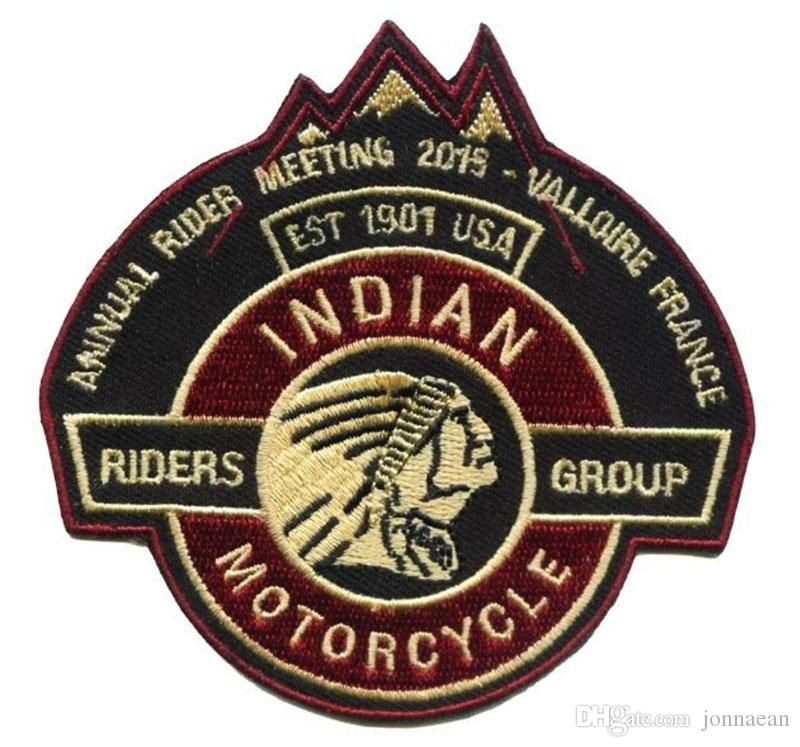 Indian Motocycle Since 1901 Motorcycle  Rnd Embroidered Badge Cloth Patch