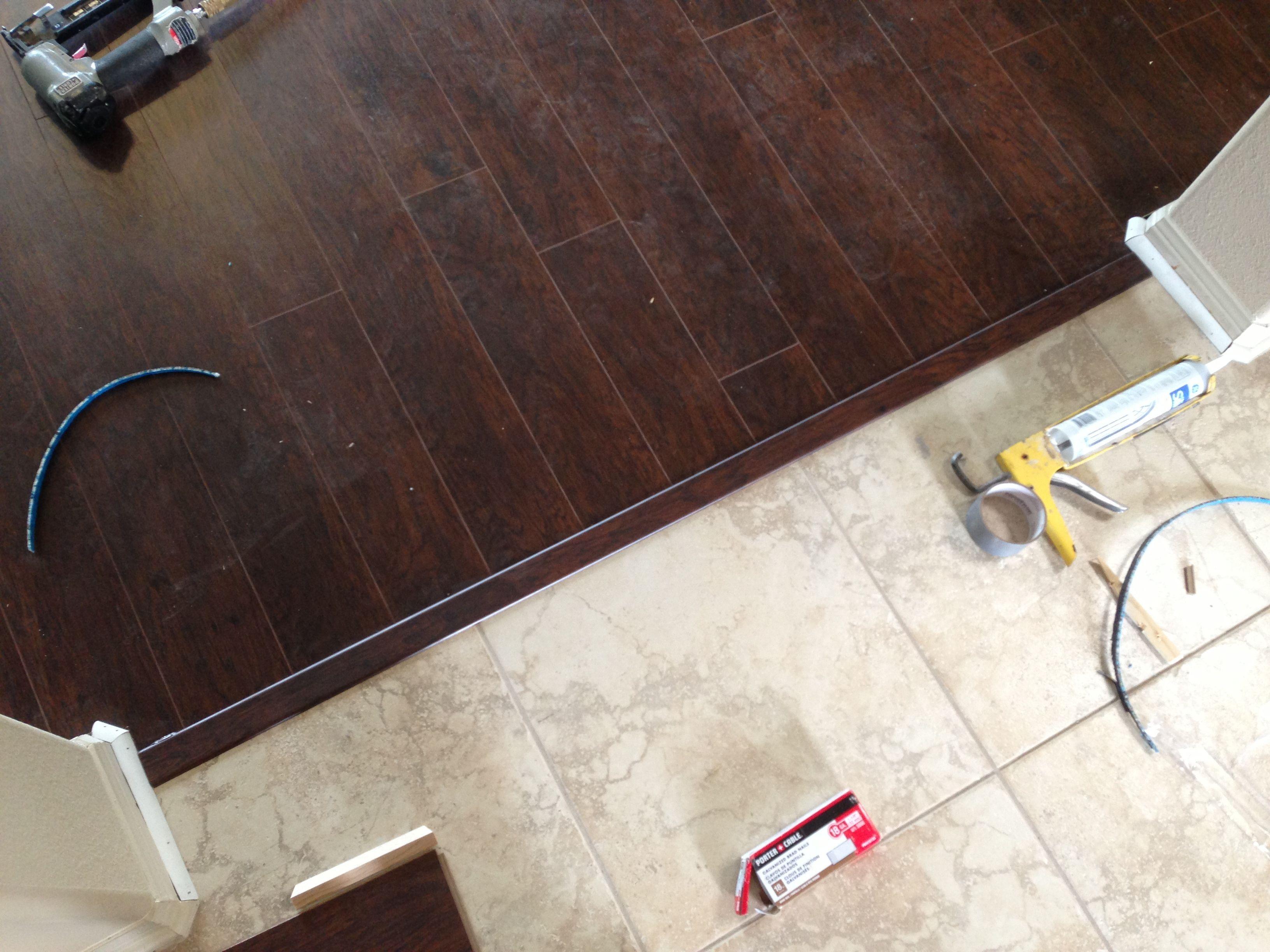 tile transition to laminate
