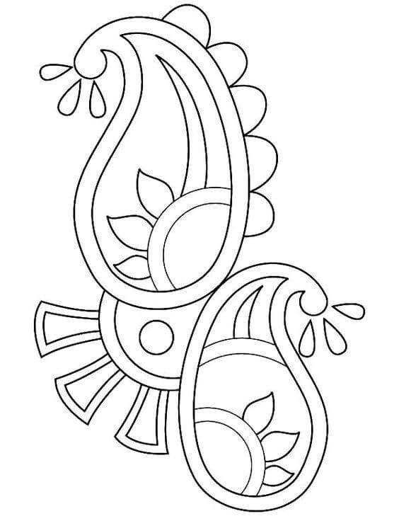 Diwali, Rangoli design coloring printable Page for kids 3 ...