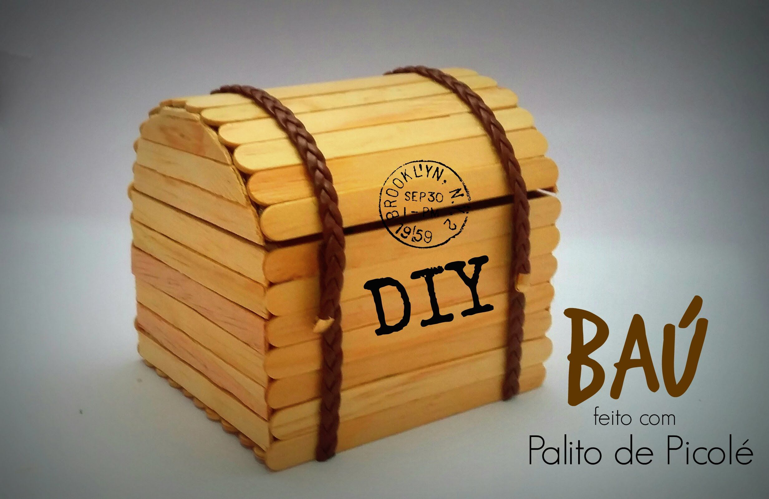 Diy Serie Palitos De Picole 1 Bau Chest Stick Popsicle