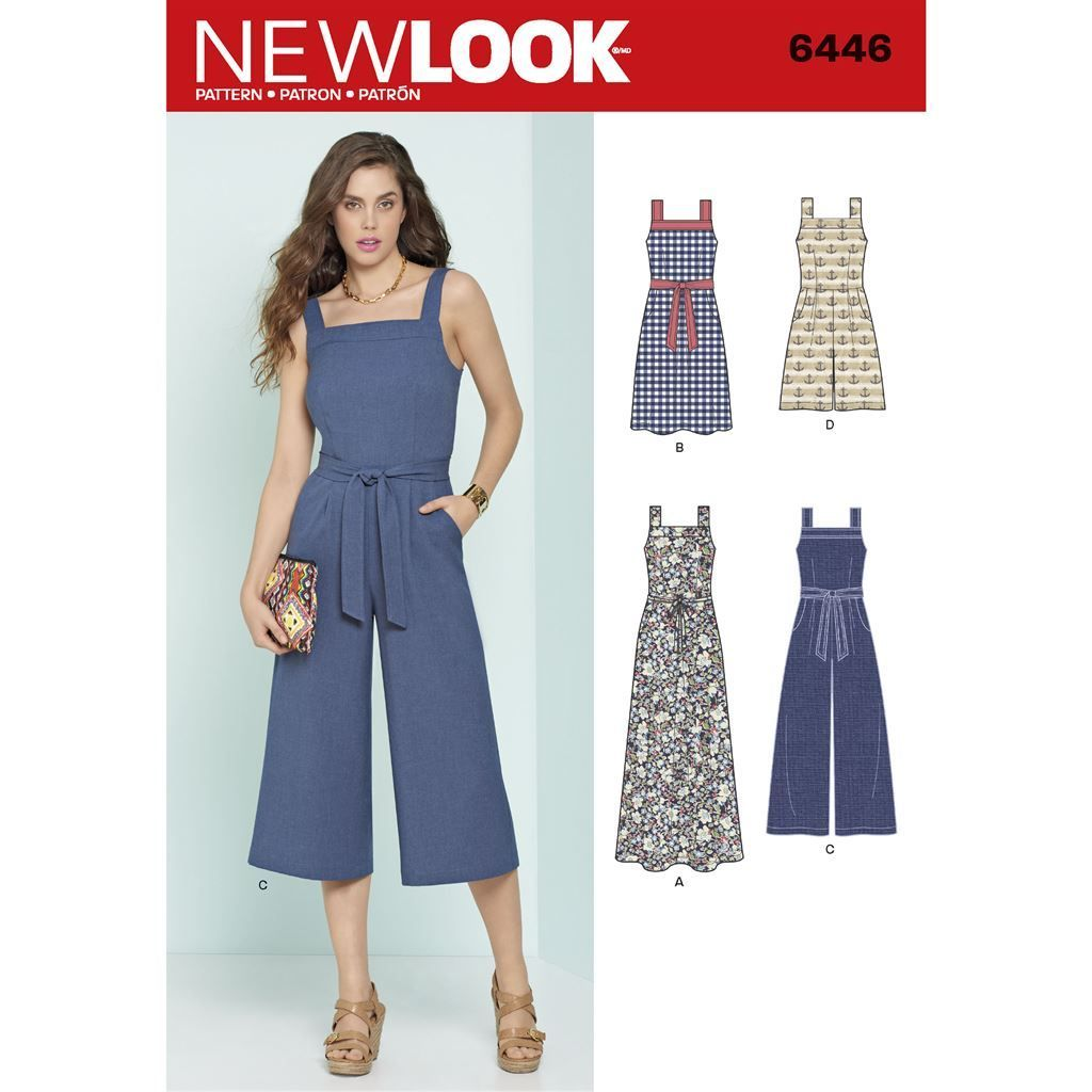 Butterick 6622 Sewing Pattern to MAKE Close-Fitting Stretch Dress and Jumpsuit