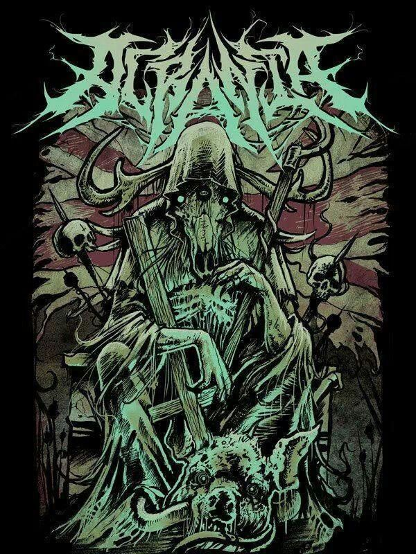 Acrania T-shirt print | Arte sobre la muerte, Bandas de ...