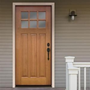 Steves Sons 32 In X 80 In Craftsman 6 Lite Stained Mahogany Wood Prehung Front Door M3306 2 Hy Wj 4ilh Exterior Doors With Glass Wood Front Doors Exterior Doors