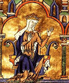 Blanche of Castile (Blanca de Castilla in Spanish; 4 March 1188 – 26 November 1252), was a Queen consort of France as the wife of Louis VIII. She acted as regent twice during the reign of her son, Louis IX.  She was born in Palencia, Spain, 1188, the third daughter of Alfonso VIII, king of Castile, and Eleanor of England. Eleanor was a daughter of Henry II of England and Eleanor of Aquitaine.