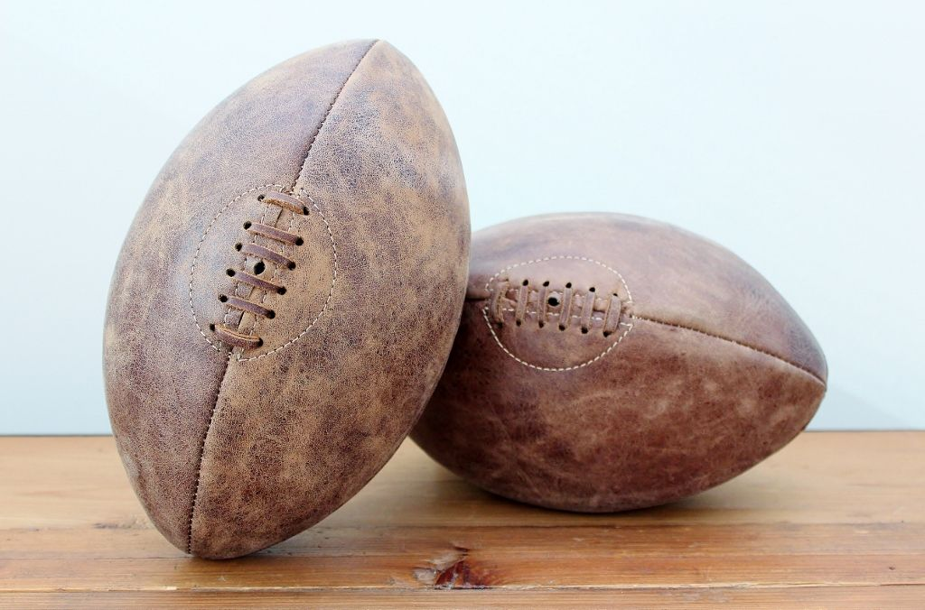 Leather rugby balls by halo a gift for him quirky and