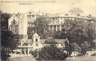 Gramatan Hotel Lawrence Park Bronxville New York Vintage Photo Post Card