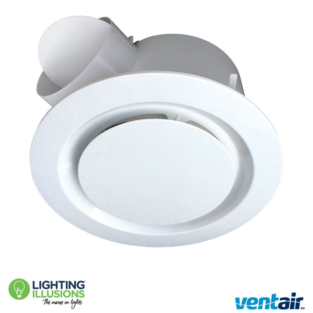 White Round Ventair Airbus 200 Pro V Bathroom Exhaust Fan