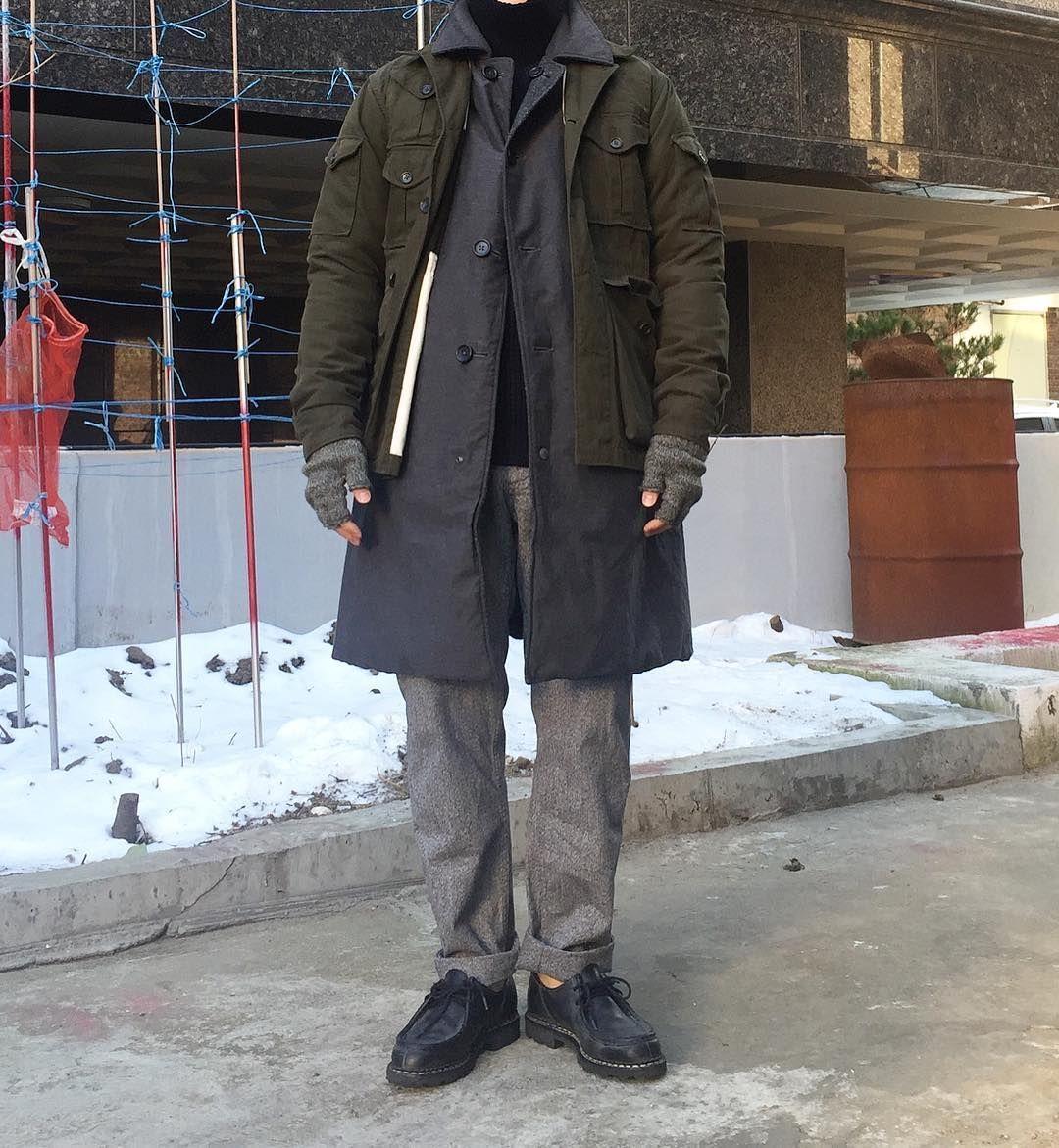 "Reposting @iam_nurimon: ... ""- #engineeredgarments #barbour  생각대로 되지않아 조금 속상해.. 근데 아무렇지도 않아서 조금 신기해 나도 도가 텄나봐.."" Menswear mode style fashion outfit ootd homme"
