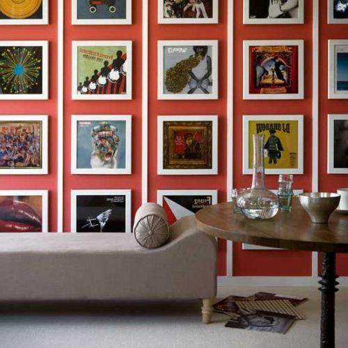 Wanddekoration Ideen Wandgestaltung Bilder Weiße Rahmen