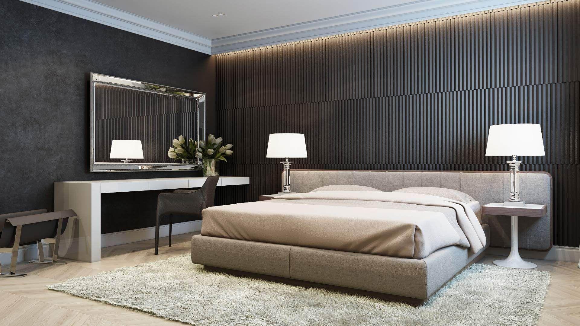 Bedroom interior hd pics classic apartment in moscow  diseño para interior de casa