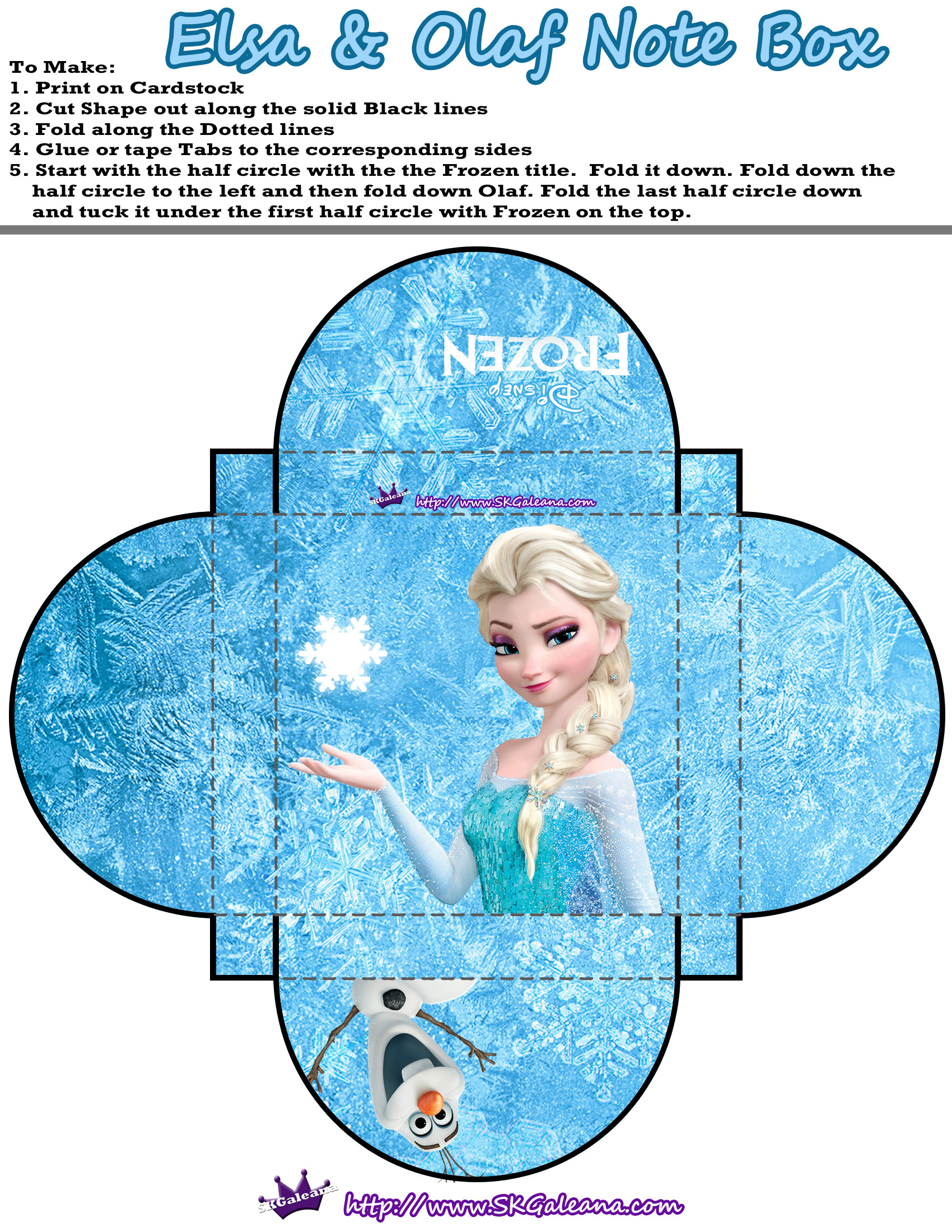 Free Printable Frozen Boxes For Parties