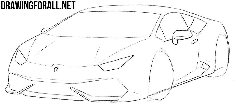 How To Draw A Lamborghini Car Drawing Easy Car Design Sketch Car Drawings