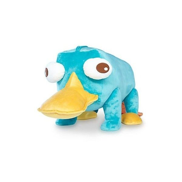 "Disney Jumbo 37"" Perry the Platypus Plush from Phineas & Ferb - Toys &... (365 BRL) ❤ liked on Polyvore featuring toys, stuffed animals, disney, extra and kids"