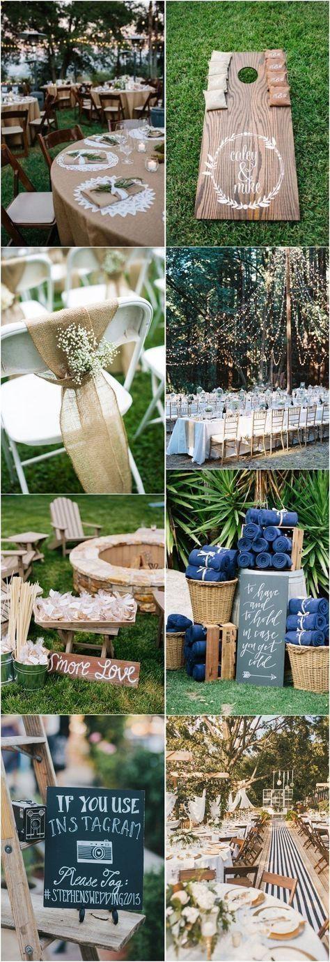 49 Cheap Backyard Wedding Decor Ideas   Diy backyard ...