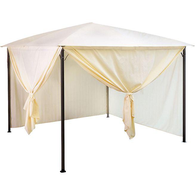 Abricotier Toile De Pergola Taupe En Polyester 3x3m Meuble Deco Mobilier De Salon Parasols