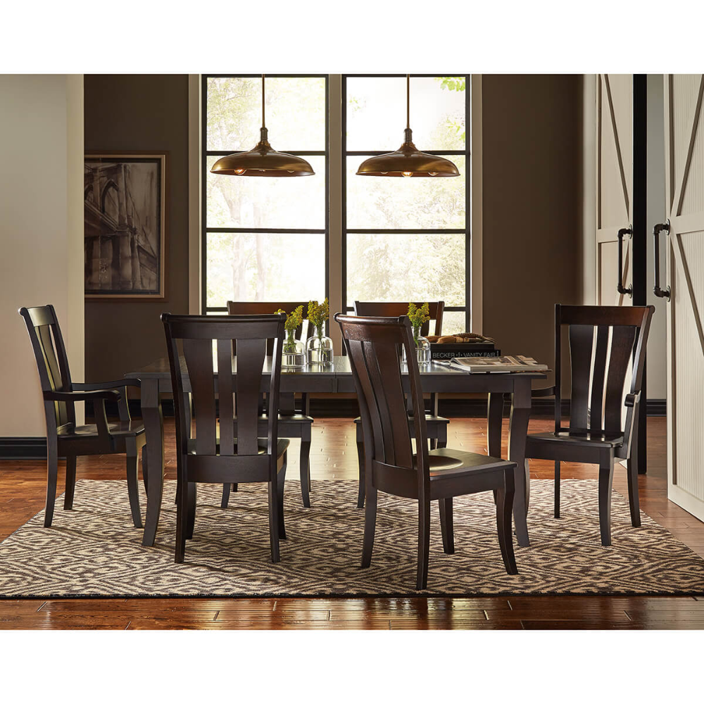 Dining Room 1 Collections Amish Oak Cherry Hickory Nc White Oak Table Dining Room Set Side Chairs