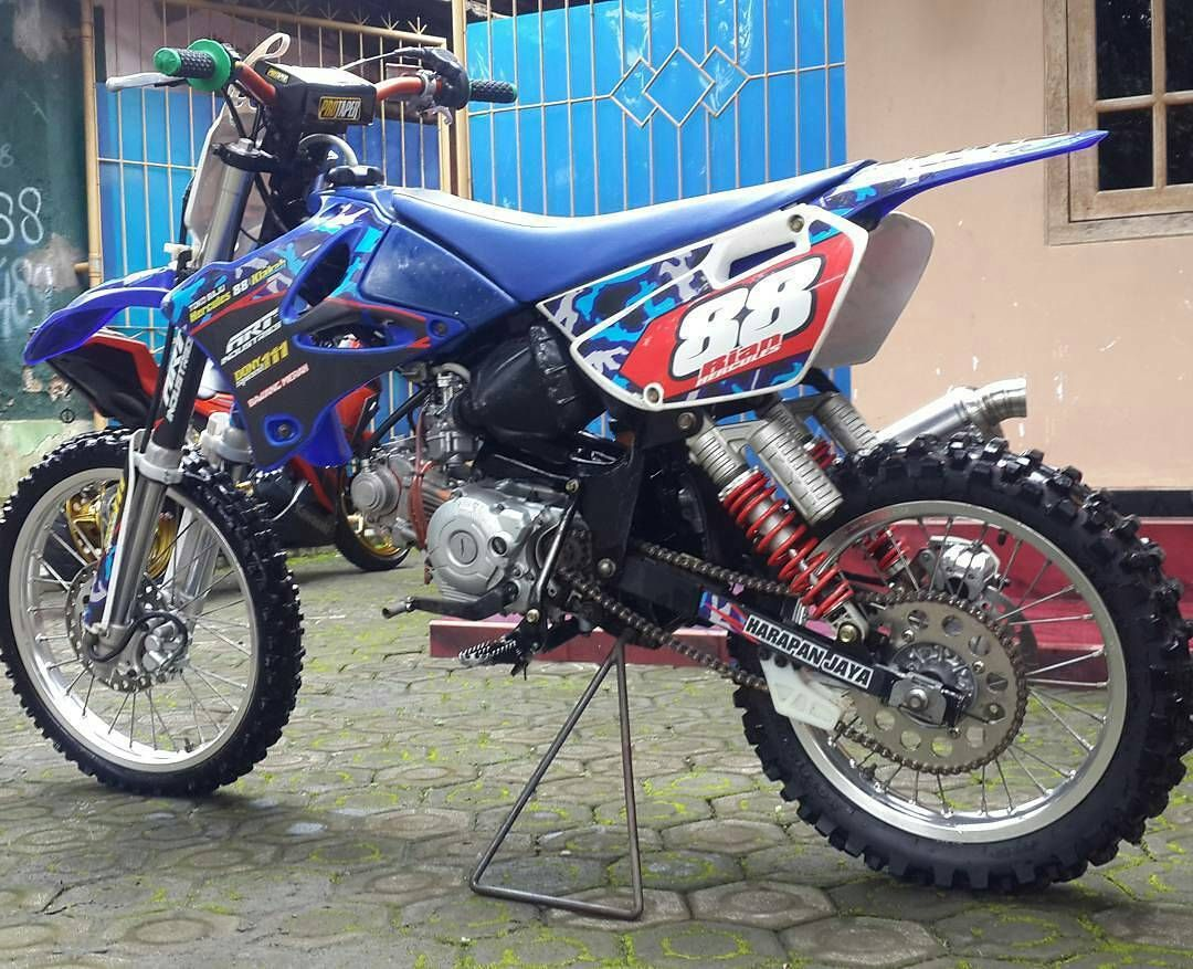Bebek Modif Jupiter Z Grasstrack Ala Motor Cross Terbaru Keren Pembalap Motor Trail Motor