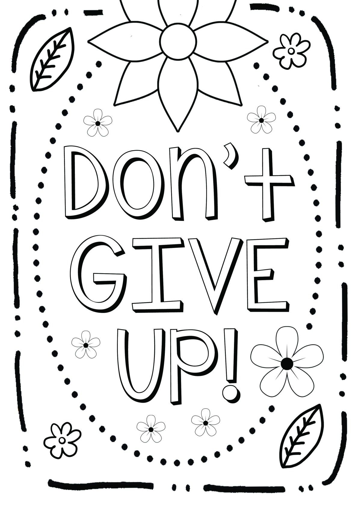Free Coloring Page Growth Mindset