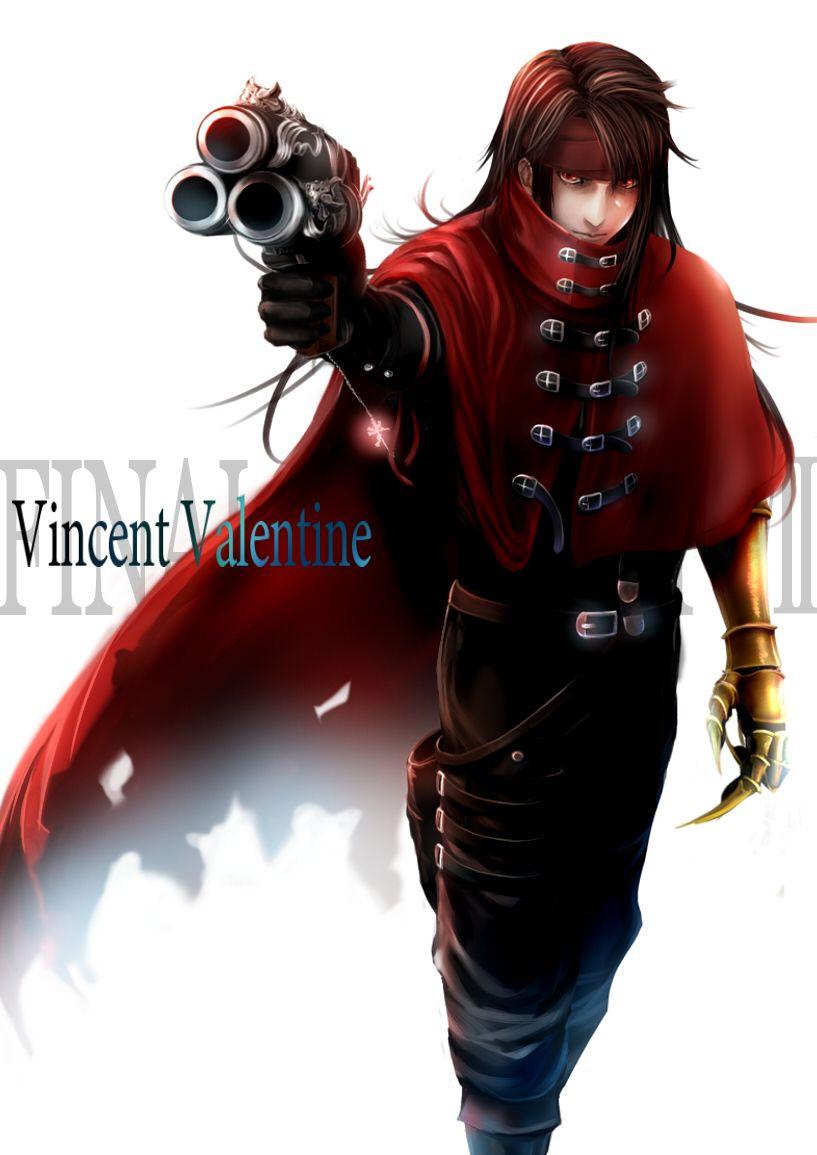 Ten K1208 Vincent Valentine Final Fantasy Vii Final Fantasy Artwork