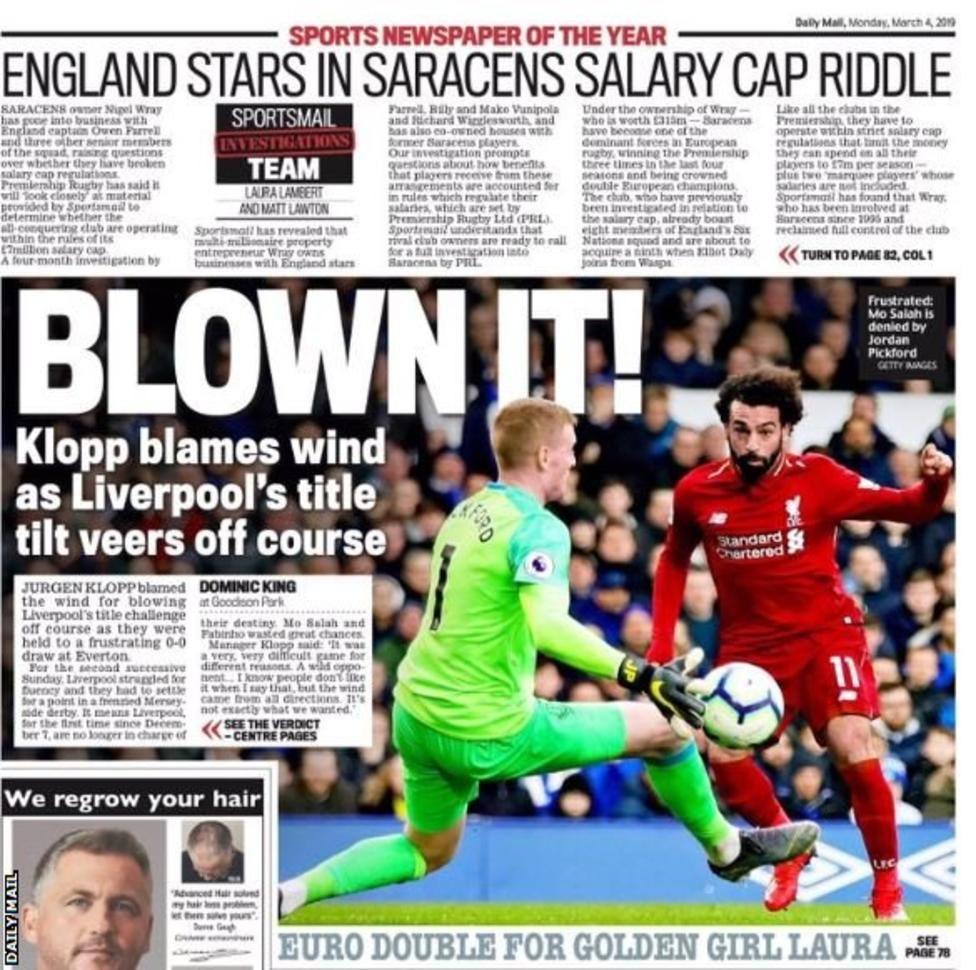 Monday's gossip column Liverpool titles, Salary cap, Sports