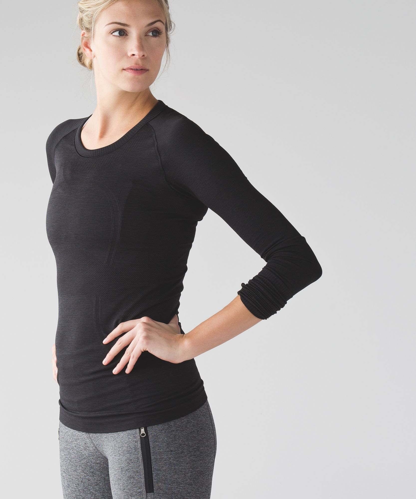A longsleeve layer designed with running and sweating in mind