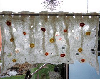 Filz Gardine Scheibengardine Fenstervorhang Vorhang Cobweb Felt Baby Mobile