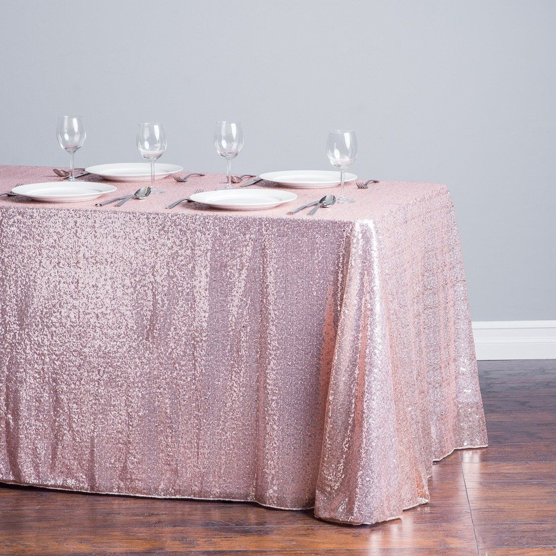 Blush Sequin Tablecloth Baby Shower Table Cloth Gold Sequence Overlay Runner Wedding