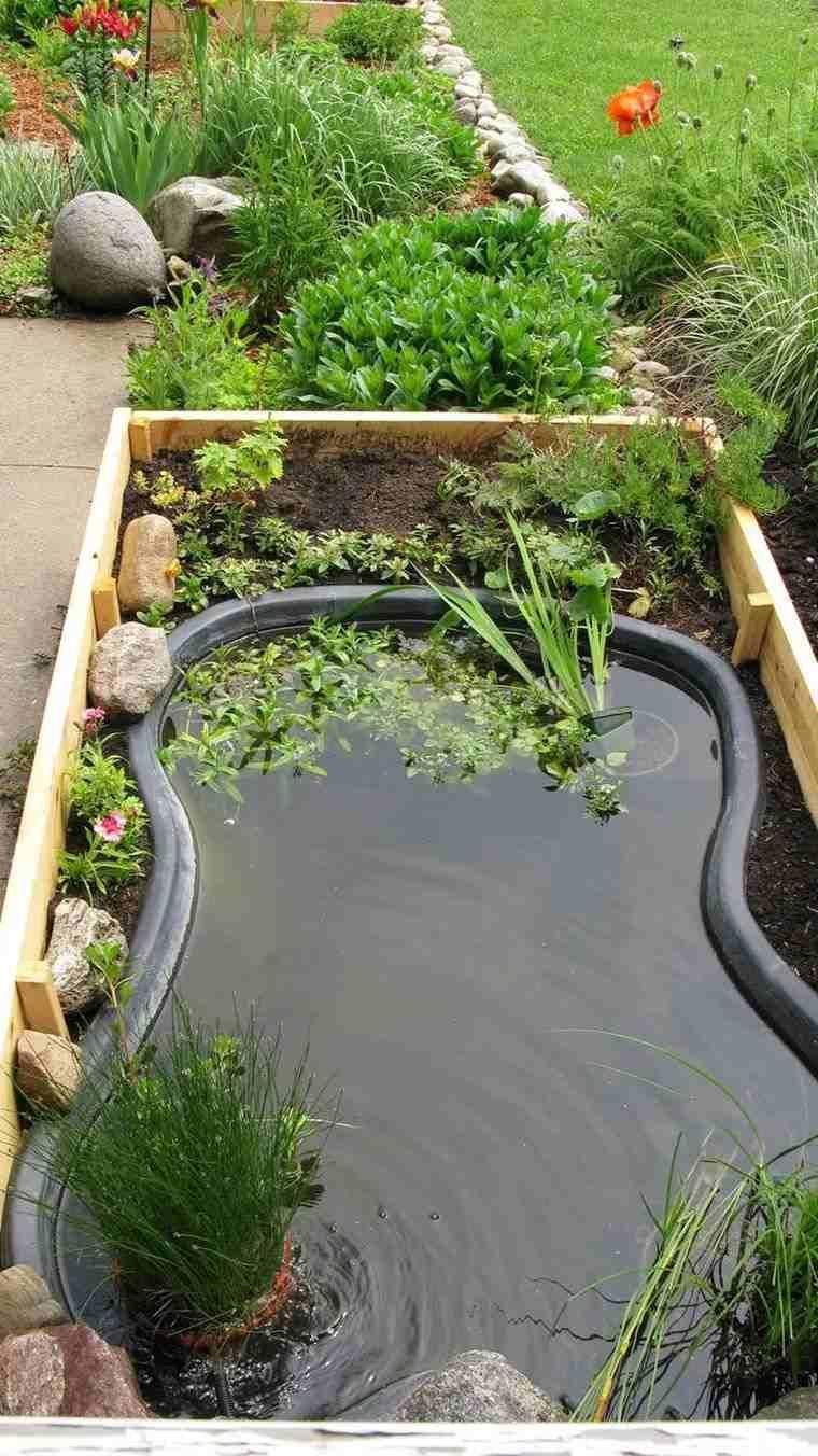 Bassin Préformé Hors Sol idee-pinterest-deco-jardin-bassin-eau-exterieur #ponds