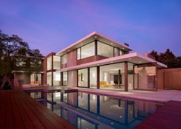 sontuoso california contemporaneo casa design esterno