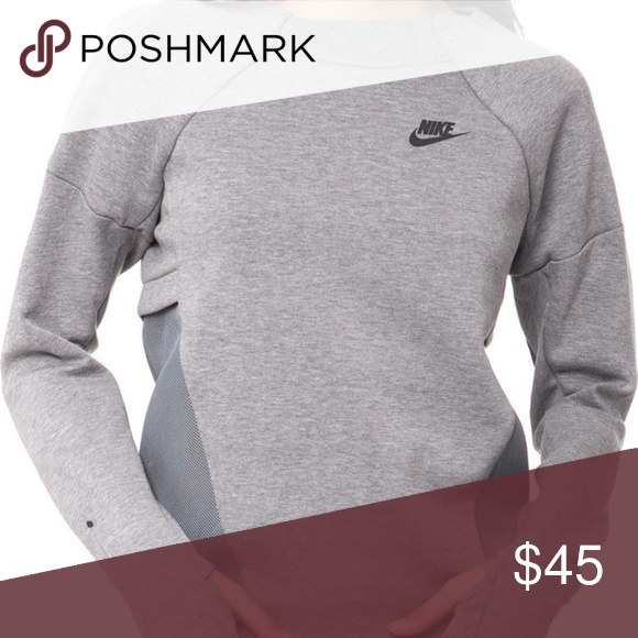 b33dc829d06c Nike Tech Fleece Mesh Crew Womens Sweatshirt 72585 Nike Tech Fleece Mesh  Crew Womens Sweatshirt 725852