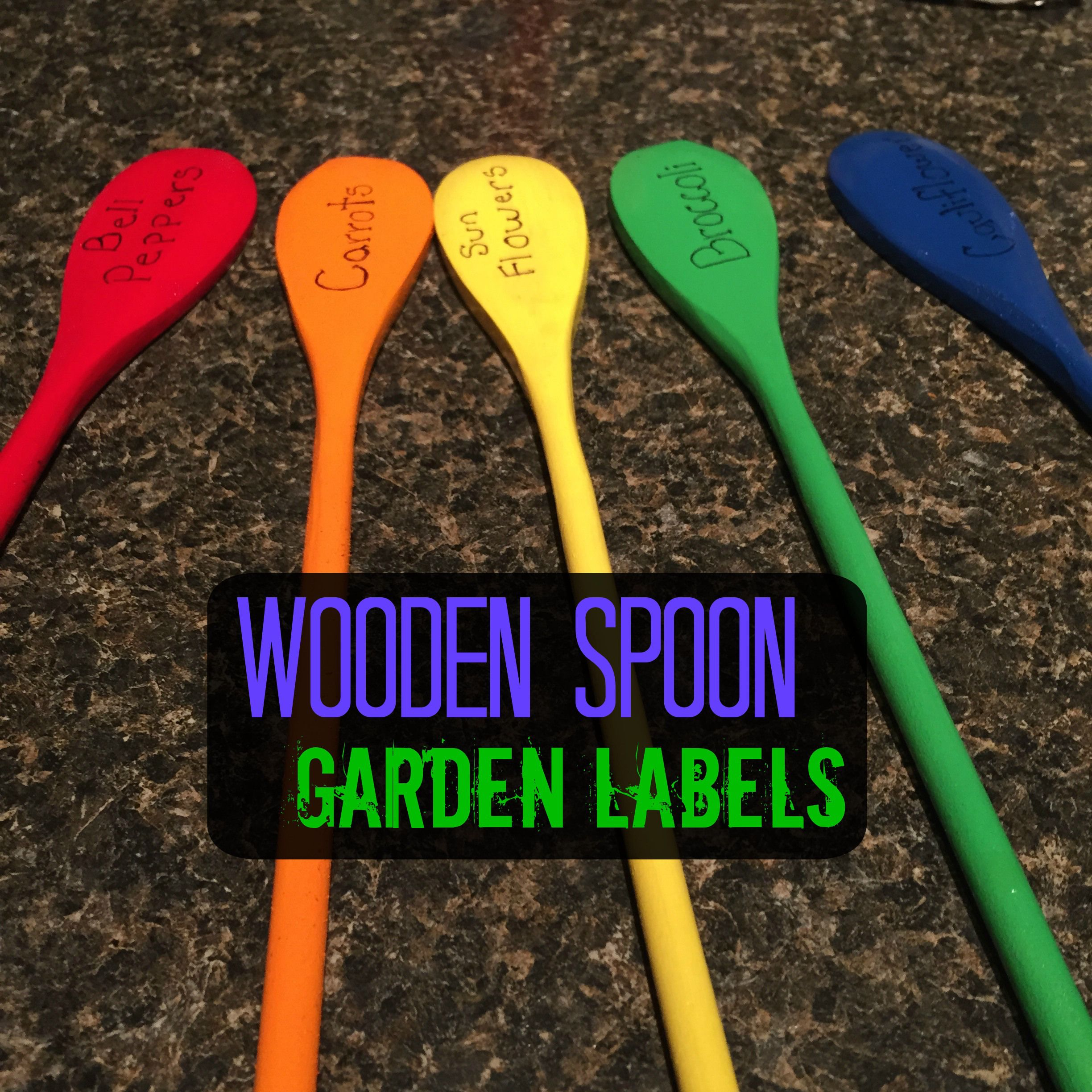 Wooden Spoon Garden Labels are an inexpensive way to add a pop of ...