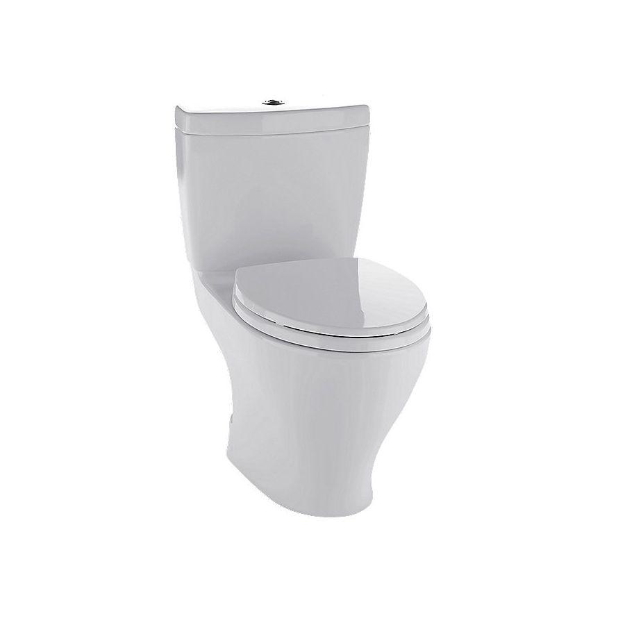 Toto Aquia Ii 0 9 Gpf Colonial White Watersense Dual Flush Elongated Standard Height 2 Piece Toilet Toilet Toto Water Sense
