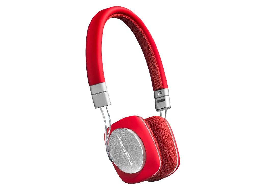 Bowers & Wilkins P3, mobiles Hi-Fi On-Ear-Headset, faltbar, rot