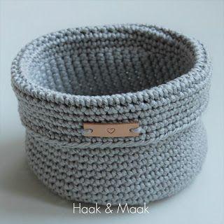 Haak Maak Mandje Haken Cosulete Pinterest Crochet Knitting
