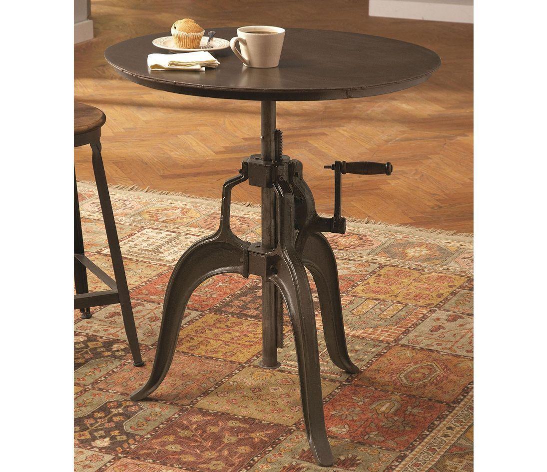 Largo Leeds Adjustable Height Round Nook Table Furniture Largo