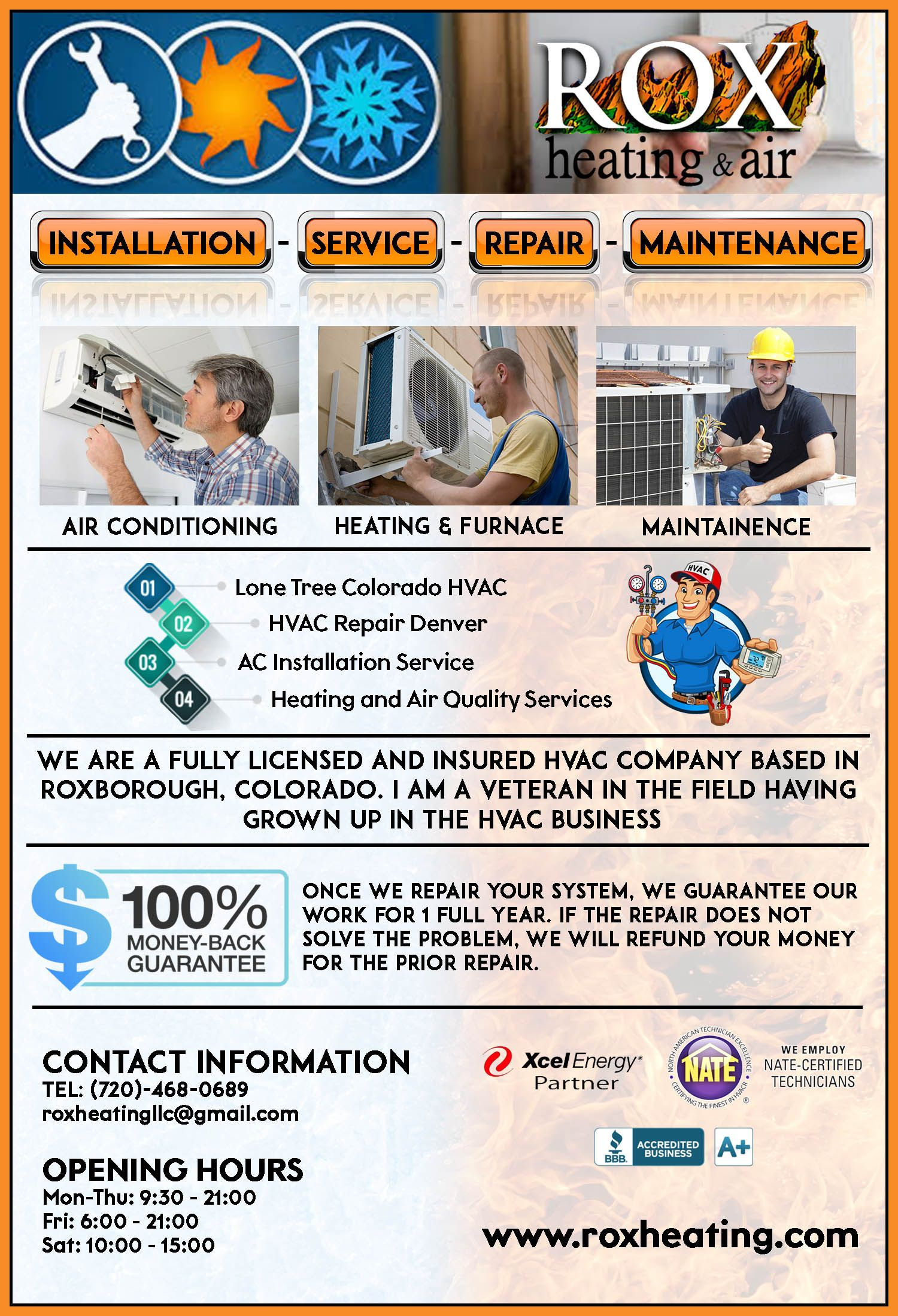 When need a reliable heating service in Littleton at costs