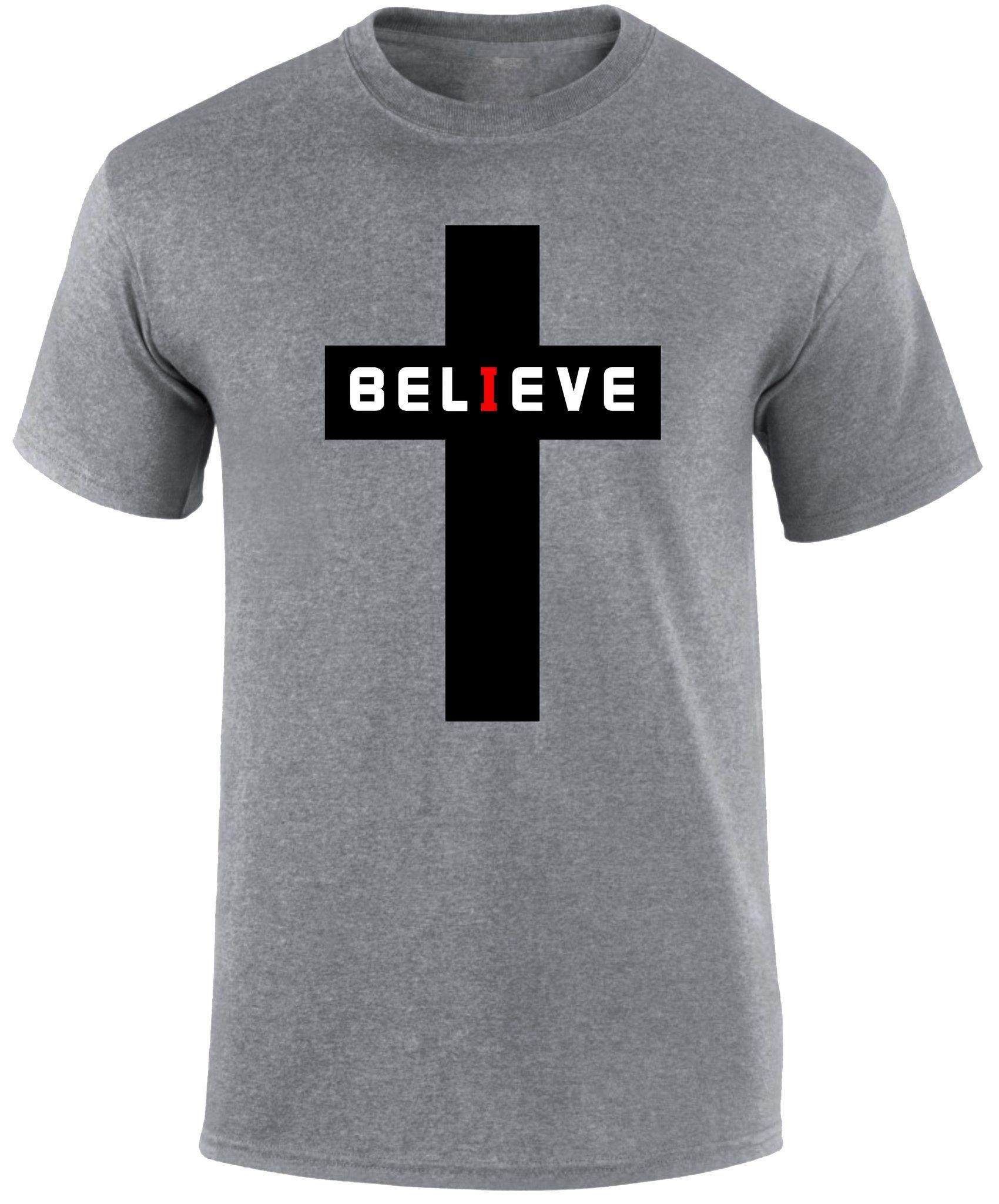 Believe Chrisitan Cross Scripture Religious T Shirt Superpraisechristian Bible Scripture