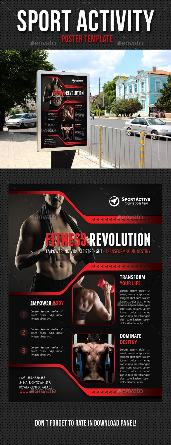 Sport Activity Poster Template PSD. Download here: http://graphicriver.net/item/sport-activity-poster-template-v12/13385435?ref=ksioks