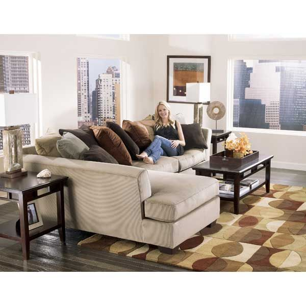 Beige Corduroy Sofa American Furniture Warehouse -- Virtual Store -- 2pc Laf