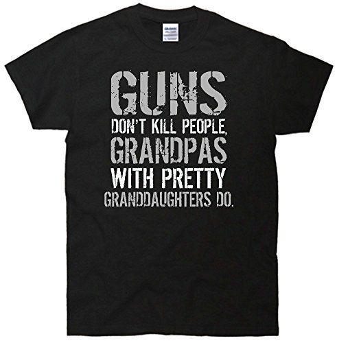 f5e2084b TeeShirtPalace Guns Don't Kill People Grandpas With Granddaughters Do T- Shirt