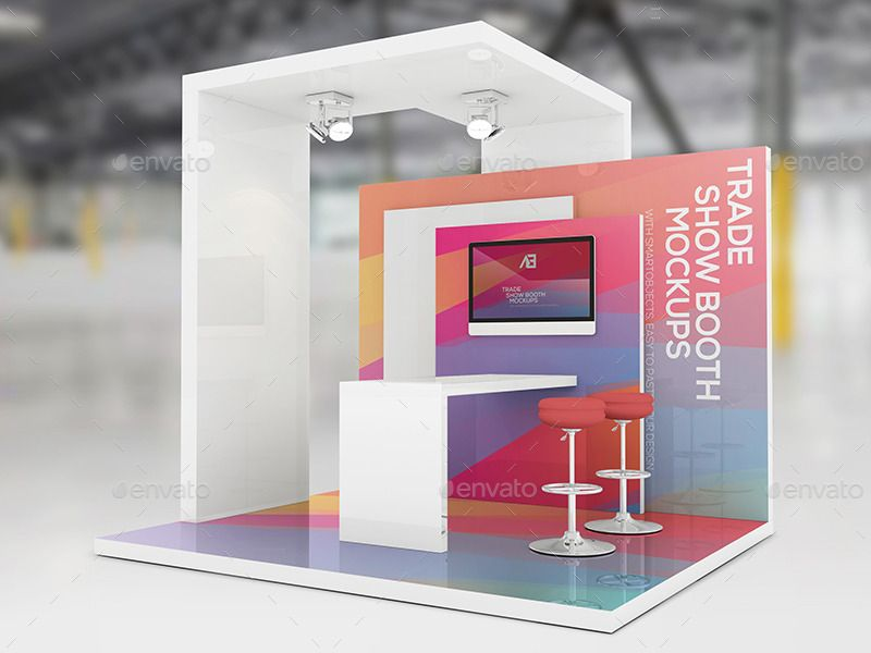 Simple Exhibition Stand Mockup : Trade show booth mockups v … stand pinte…