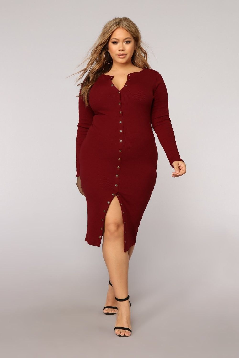 Plus Size Vintage Jams Dress - Wine $34.99 #fashion #ootd #outfit ...