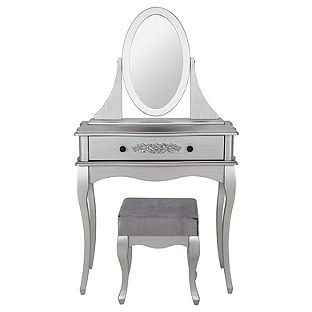 Buy Sophia Dressing Table Stool Mirror Silver At Argos Co Uk Your Online Shop For Dressing Tables Dressing Table Argos Argos Home Silver Mirrors
