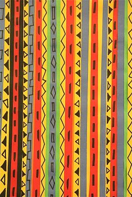 Strips of paper: 2nd grade - West African art -kente cloth lesson