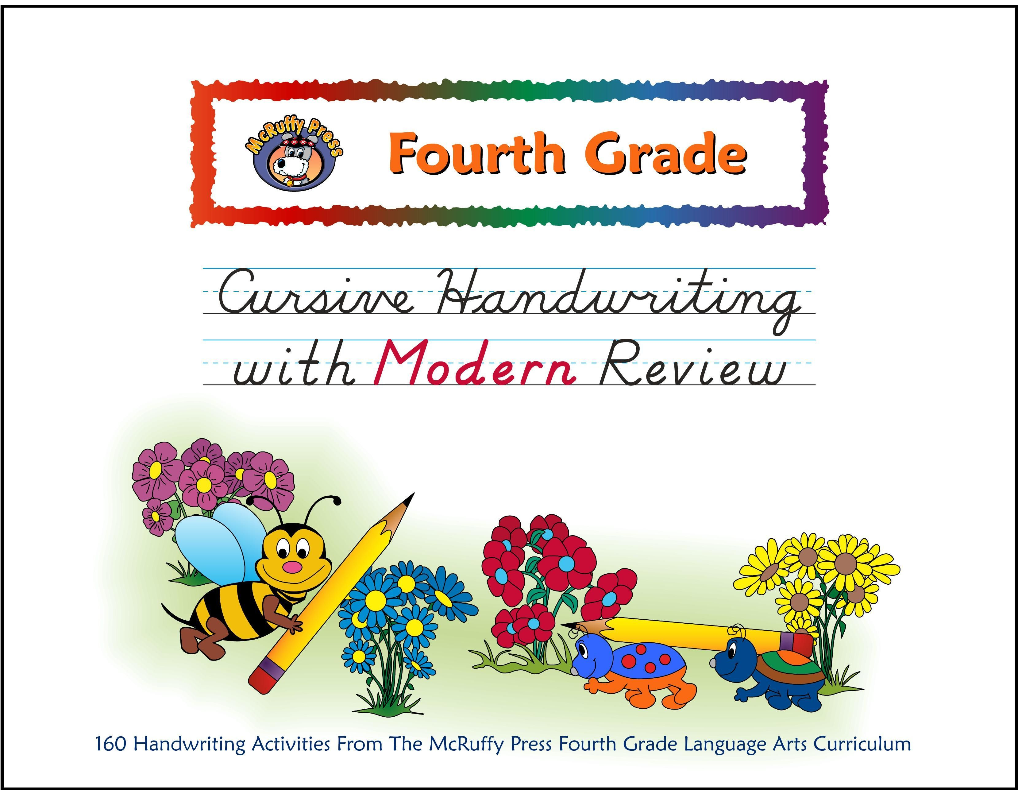 Fourth Grade Cursive With Modern Review Handwriting