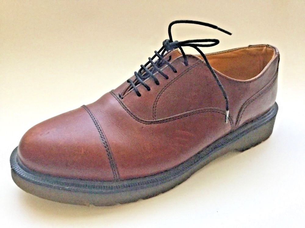 Dr Martens Slip On Casual Loafers England Brown Leather Mens US Size 8 / UK 7