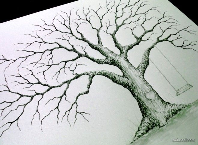 Beau 30 Beautiful Tree Drawings And Creative Art Ideas From Top Artists