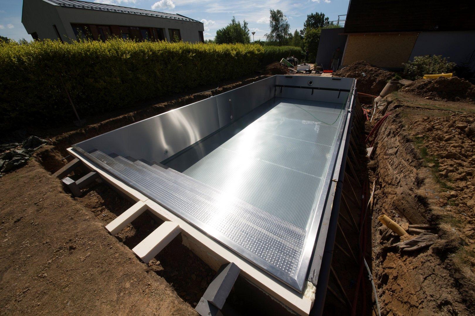 Piscine En Inox Steel And Style installation of stainless steel pool imaginox | piscine inox