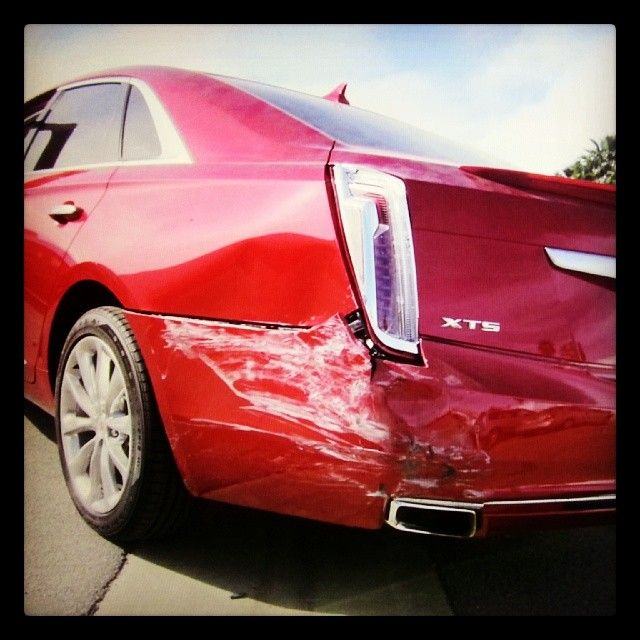 Beautiful #cadillac with heavy damage. #carsofinstagram #collision #car