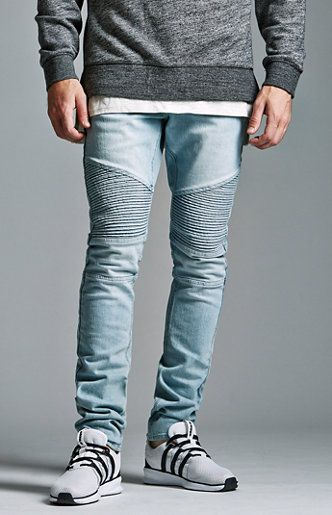Light Moto Stacked Skinny Jeans  2aeb94cd1